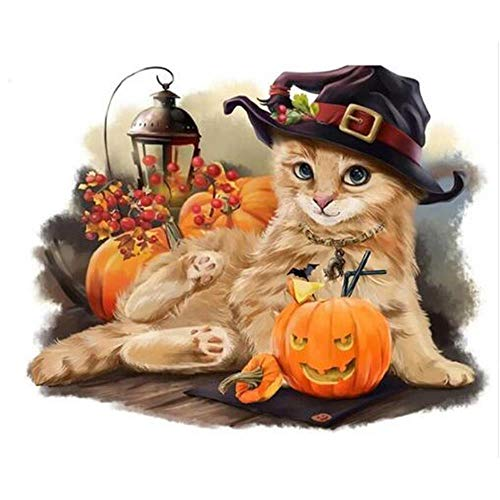 Adults Wooden Jigsaw Puzzle 1000 Pieces Halloween Cat