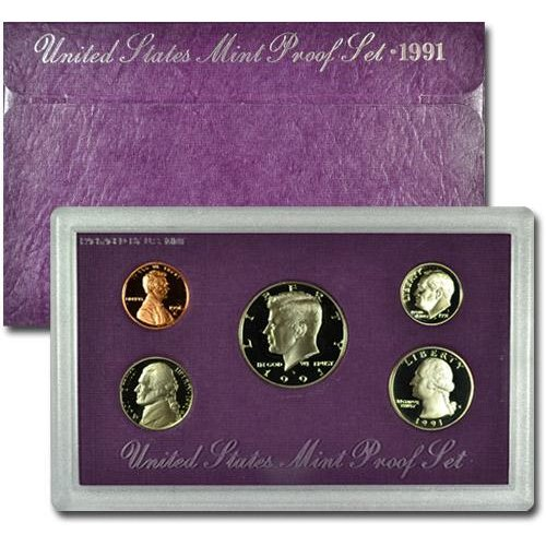 1991 Cupro-Nickel U.S. Mint-Proof Sets Mixed Dollar GEM Proof (1991 Us Mint Proof)