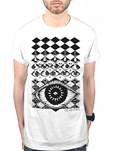 Official The National Eyeball T-Shirt Indie Rock Band Eye Music Album White