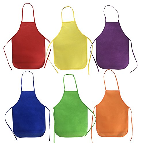 dren's Artists Fabric Aprons for Kitchen Classroom Community Event Crafts and Art Painting Activity ()