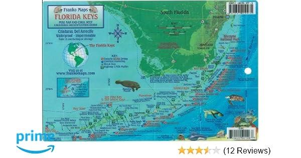 Florida Keys Dive Map & Reef Creatures Guide Franko Maps Laminated on hutchinson beach map, no name key map, siesta key sarasota map, sunset key map, miami map, largo sound map, marco island map, chokoloskee map, hawks key map, st. augustine beach map, bradenton area map, rodriguez key map, w palm beach map, florida map, ramrod key map, big pine key map, daytona beach map, rockland key map, anna maria island map, lakewood park map,