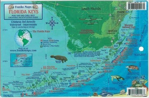 Florida Keys Snorkeling Map Florida Keys Dive Map & Reef Creatures Guide Franko Maps Laminated