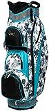 Glove It Women's Golf Bag Ladies 14 Way Golf Carry Bag - Golf Cart Bags for Women - Womens Lightweight Golf Travel Case - Easy Lift Handle - 2019 Black & White Rose