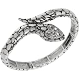 Pola's Silver Tone snake Bracelet