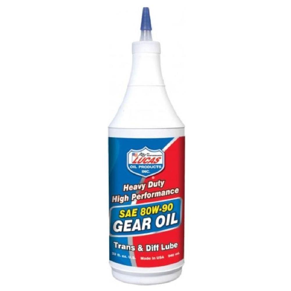 Lucas Oil 10043-PK12 Heavy Duty 80/90 Plus Gear Oil - 1 Quart Bottle