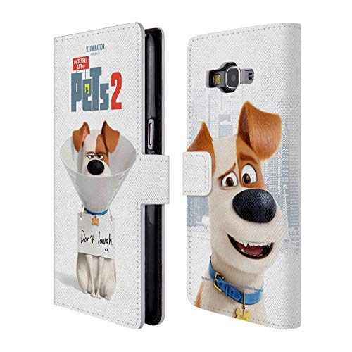 (Official The Secret Life of Pets 2 Max Jack Russell Dog II Character Posters Leather Book Wallet Case Cover Compatible for Samsung Galaxy Grand Prime)