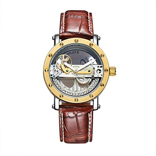 ShenHua Men's Luxury See-Through Skeleton Watch with Expo...