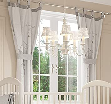 d41cd0f4c6a1 Baby Bedding Design Gray Winnie the Pooh 2 Curtains  Amazon.co.uk  Baby