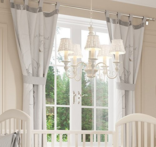 Nursery Curtains For Baby Room with Decorative Bows 62x62 inch ...