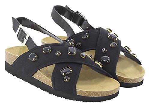 KOALA BAY Women's Assyria Ankle Strap Sandals Black (Black 002) ADoyezL11