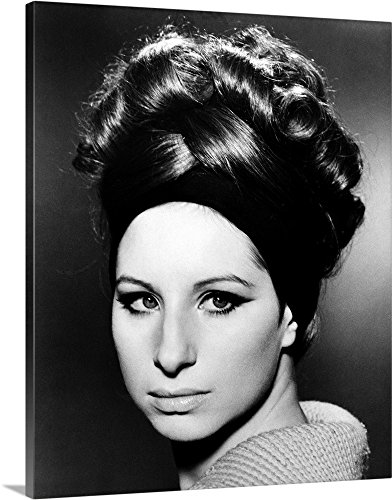 Canvas on Demand Premium Thick-Wrap Canvas Wall Art Print entitled Barbra Streisand (B.1942) (60s Hairstyles Beehive)