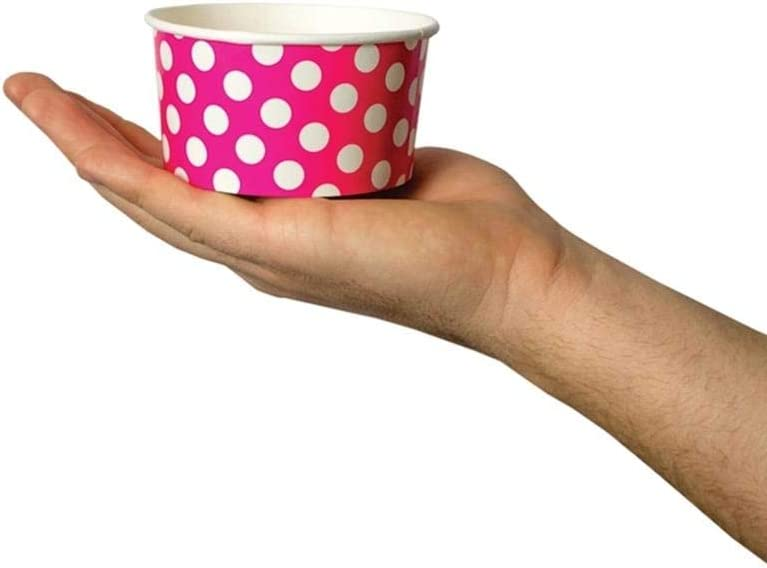 50 Count Frozen Dessert Supplies 6 oz Striped Dessert Bowls Black Paper Ice Cream Cups Comes In Many Colors /& Sizes