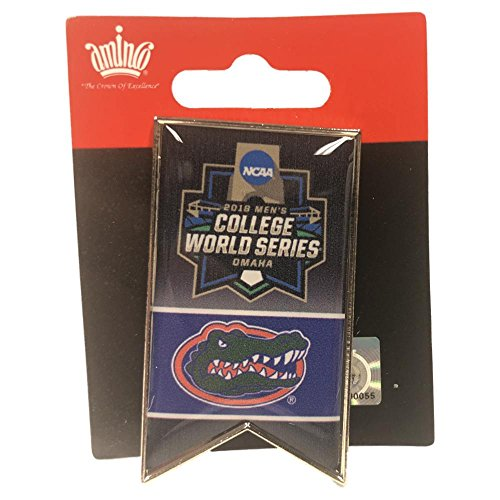 aminco Florida Gators 2018 NCAA College World Series CWS Banner Lapel Pin