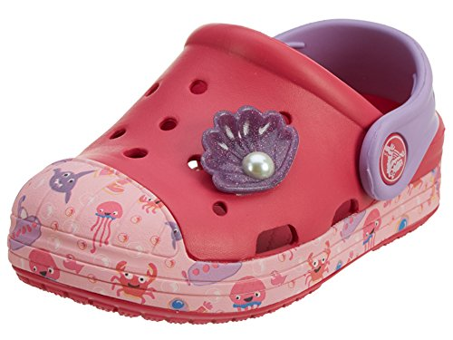 Crocs Bump It Sea Life K Clog (Toddler/Little Kid), Raspberry, 11 M US Little Kid