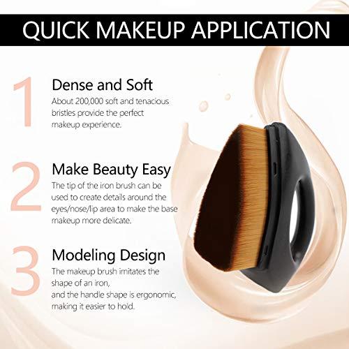 Huasida Foundation Brush Liquid Brush Make Up Brush Especially Suitable for Nose and Eye Area (Black)