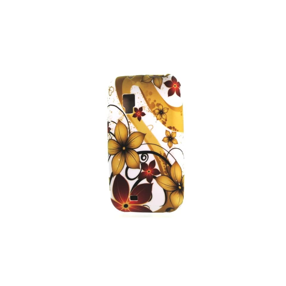 Brown Red Autumn Flower Design Soft Silicone Skin Tpu Gel