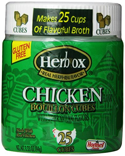 Chicken 25 Cubes - Herbox Bouillon Cubes Chicken 25 cubes, 3.33-Ounce (Pack of 6)