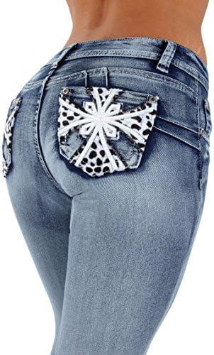 Estilo SF3–35057MS–Plus tamaño, Colombiano diseño, Butt Lift, skinny jeans