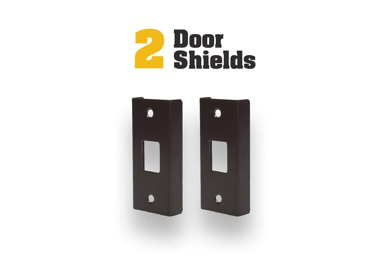 Door Armor Mini Strike Plate Bronze DIY Home Security Door Security Reinforcement Kit For Jamb Frame