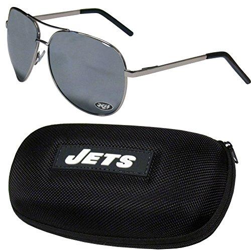 NFL New York Jets Aviator Sunglasses & Zippered Carrying Case