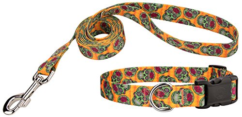 Country Brook Petz Deluxe Sugar Skulls Dog Collar & Leash - Extra Small]()