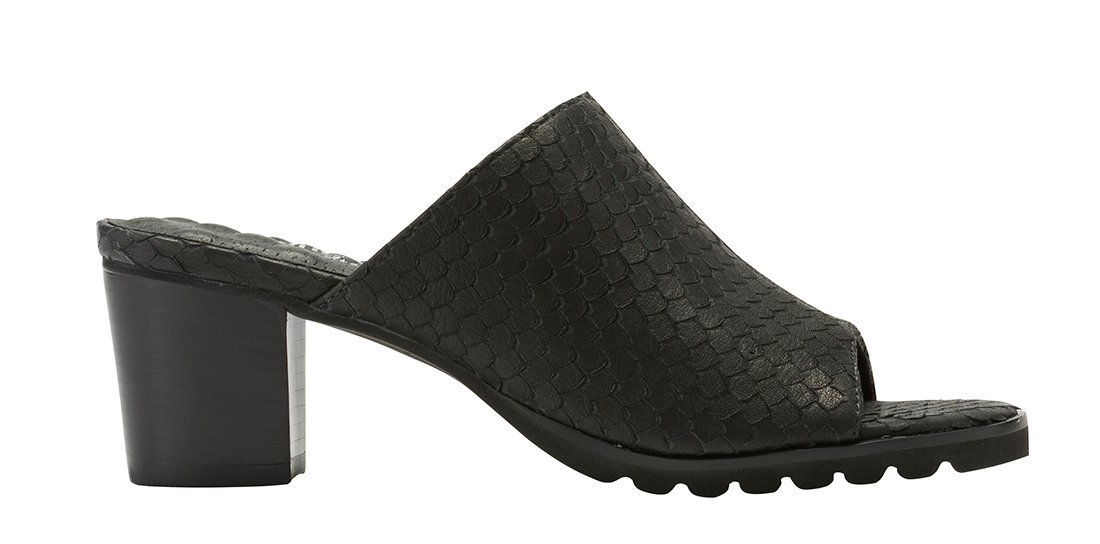 Walking Cradles W-87401 Nia Womens Leather 2 1/8'' Heel Rubber Outsole Heeled Backless Sandal