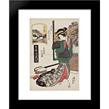 Kanbara Kaoyo of the Tamaya, from the series A Tôkaidô Board Game of Courtesans 20x24 Framed Art Print by Keisai Eisen