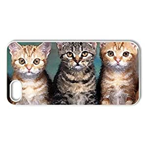1..2..3..clik - Case Cover for iPhone 5 and 5S (Cats Series, Watercolor style, White)