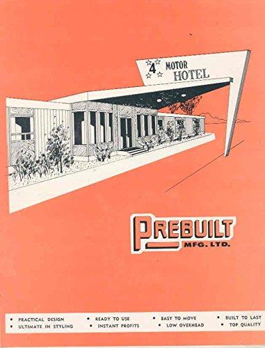 1956 ? Prebuilt Modular Factory Built Hotel Motel Brochure Canada from Prebuilt