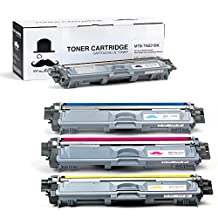 Moustache ® Value (4) Pack Brother TN221/TN225 (TN221BK+TN225CMY) Premium Quality High Yield BK/C/M/Y 1*Black, 1*Cyan, 1*Magenta, 1*Yellow Laser Toner Cartridges Combo Set For Brother DCP-9020CDN HL-3140CW HL-3150CDN HL-3170CDW HL-3180CDW MFC-9130CW MFC-9330CDW MFC-9340CDW