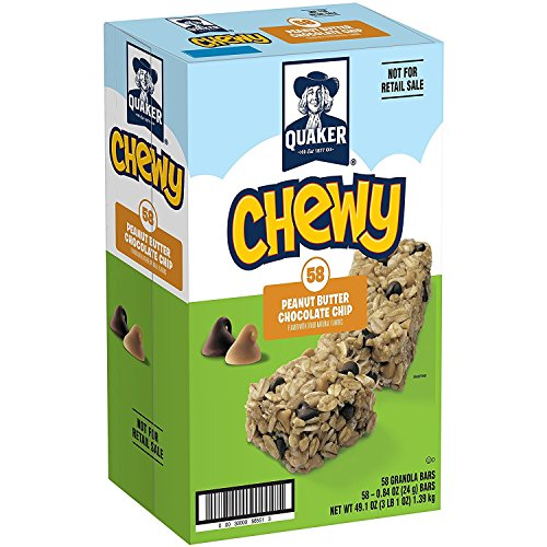 Quaker Chewy Granola Bars, Peanut Butter Chocolate Chip, 58 Count (Chewy Chip Chocolate Quaker)