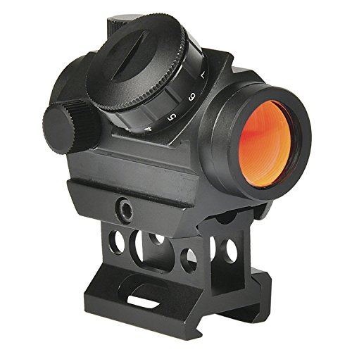 MidTen Tactical Micro Red Dot Gun Sight, 4MOA Compact Red Dot Scope with Riser Mount for 20mm Rail by MidTen
