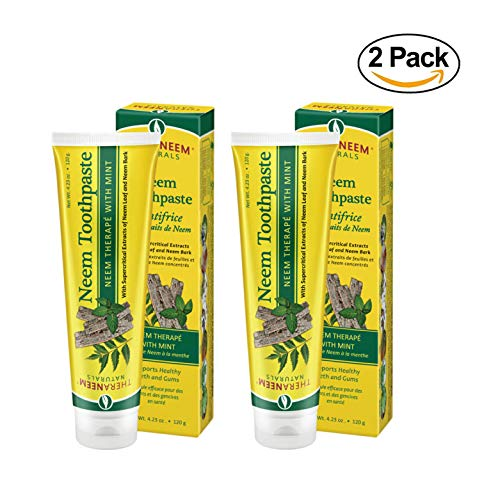 (Theraneem Organix Herbal Neem Terape With Mint Toothpaste, 4.23 Ounce (Pack of 2) )