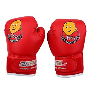 Kids Boxing Gloves PU SparringPunching Training Gloves for Age 3-12 Years
