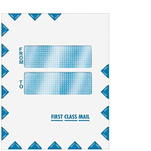 Double Window First Class Portrait Style Envelope - Peel & Seal 9 ½ x 12  (ATX, UltraTax, Tax Slayer, Pro System fx)