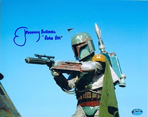 Boba Fett autographed 8x10 photo Star Wars Return of the Jedi Bounty Hunter signed by Jeremy Bulloch AW Certificate Hologram