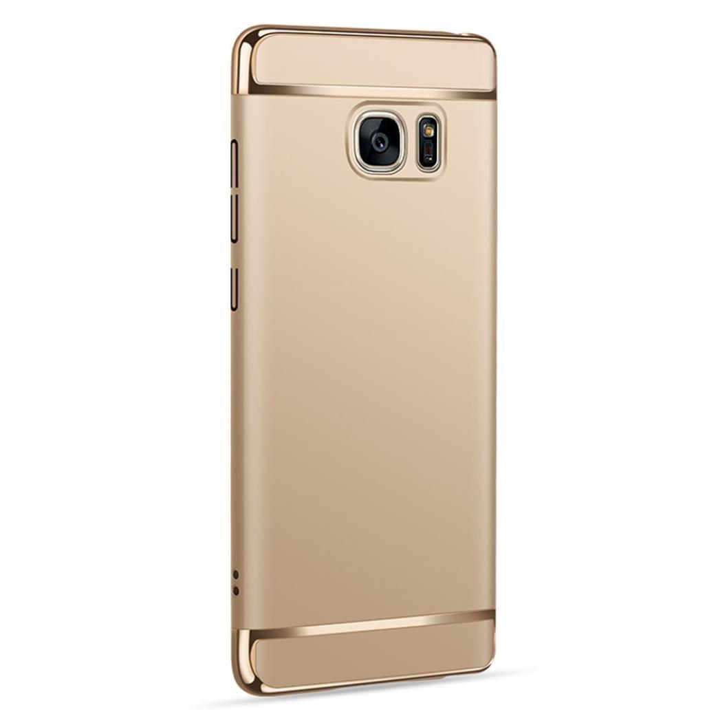 HKFV Erstaunliche LED-Licht-späteste Selfie Telefon-Kasten-Abdeckung für Iphone 8 plus 5.5 Zoll / Iphone 8 4.7 Zoll LED Fotoleuchte Selfie Telefonschale LED Case Cover (Gold, Samsung Galaxy Note 5) HKFV-9704