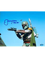 Boba Fett autographed 8x10 photo Star Wars Return of the Jedi Bounty Hunter signed by Jeremy Bulloch AW Certificate Hologram