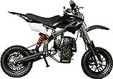 Se7en 40CC 4-Stroke Gas Powered Scooter Mini Dirt Bike,Pit Bike Dirt Off Road Motorcycle (Black)