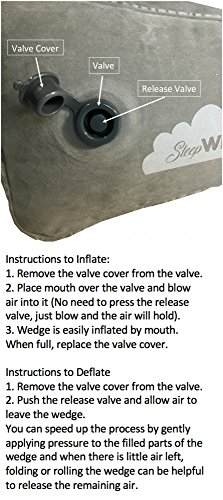 Inflatable Portable Bed Wedge With Quick Inflate/Deflate Valve and Soft Surface by Sleepwell (Image #3)
