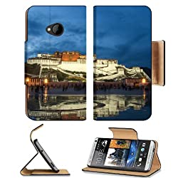 Tibet Desk The Potala Palace HTC One M7 Flip Cover Case with Card Holder