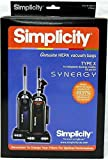 Simplicity Type X HEPA Synergy Vacuum Cleaner Bags 6 Pack