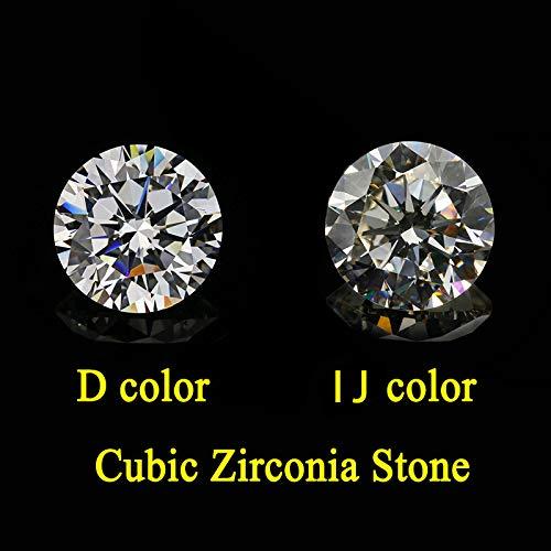 Calvas 6.5mm to 14mm 10pcs I J White Color Round Shape Star Cut Cubic Zirconia Loose Stone - (Item Diameter: 9.5mm(10pcs))