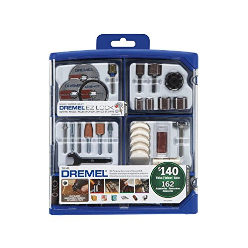 Dremel 162-Piece RotaryTool Accessory Kit for Cutting, Sanding, Polishing, Grinding and Cleaning