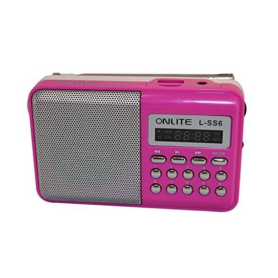 Italish L-SS6 LED Display Mini Speaker Portable FM Radio Player(Pink)