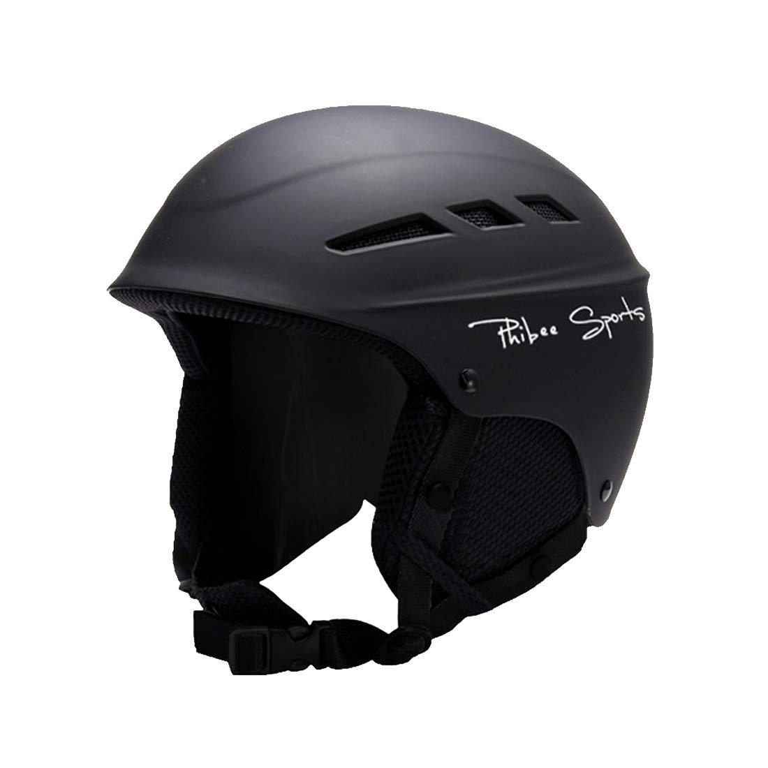 VAXT Fit for 56-60cm, Sizing: M, Undivided and Forked Plate Skiing Professional Protective Helmet 8 Air Vents PC Shell Adjustable Buckle Parent-Child Protective Helmet