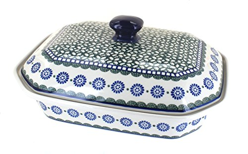 - Polish Pottery Maia Large Covered Baking Dish with Lid