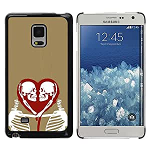 Shell-Star Arte & diseño plástico duro Fundas Cover Cubre Hard Case Cover para Samsung Galaxy Mega 5.8 / i9150 / i9152 ( Heart Love Skeleton Gold Red White )