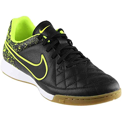 NIKE Mens Tiempo Genio Leather IC Indoor Soccer Shoes 11 1/2 US, Black
