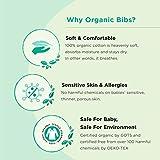 Premium, Organic Cotton Toddler Bibs, Unisex 5-Pack